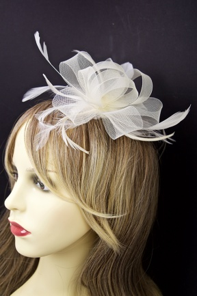 Fascinators Cream Fascinator Ivory Cream Bow Fascinator